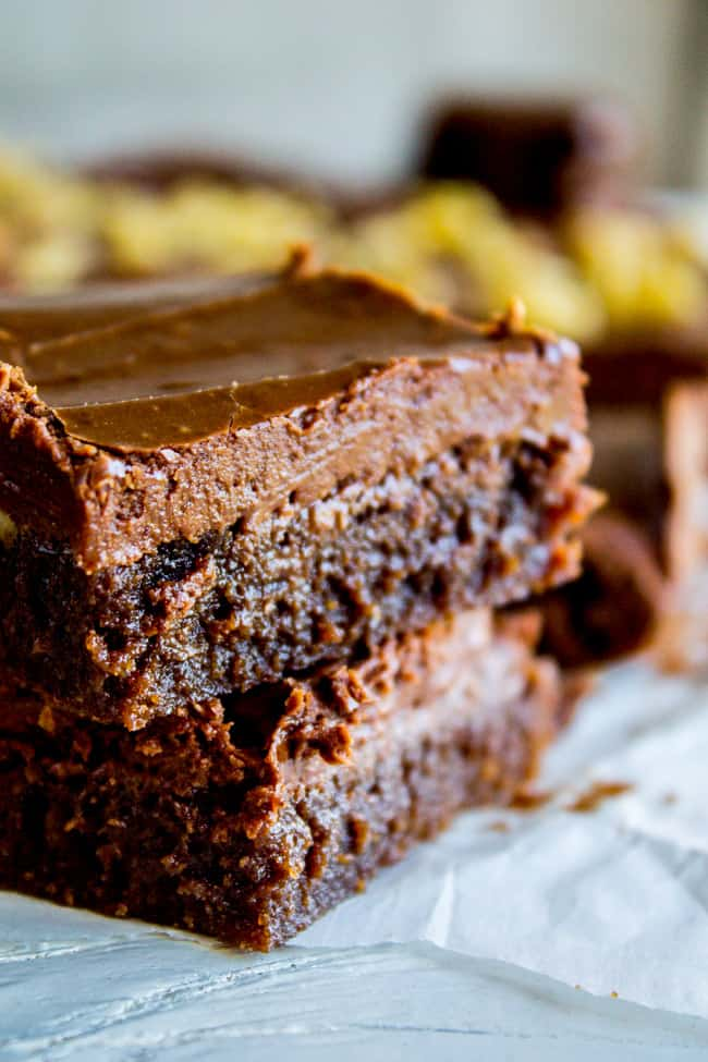 Nana's Famous Fudge Brownies from The Food Charlatan