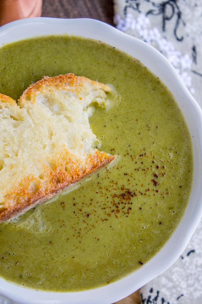 30 Minute Pea Soup (From A Bag of Frozen Peas) from The Food Charlatan