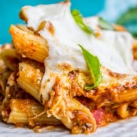 Extra Cheesy Penne and Mozzarella Casserole