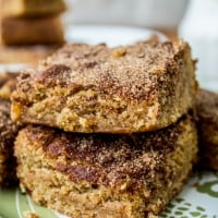 Chewy Brown Sugar Snickerdoodle Blondies