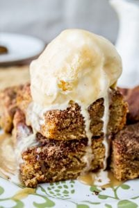 Brown Sugar Snickerdoodle Blondies from The Food Charlatan