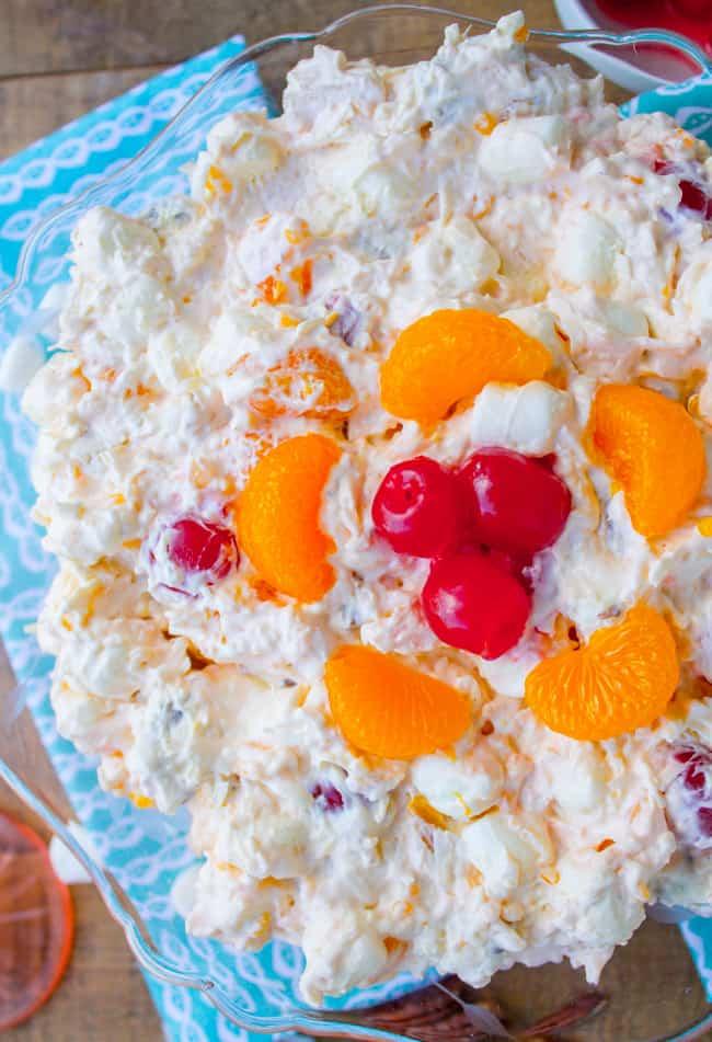 Mandarin Orange Ambrosia Salad from The Food Charlatan