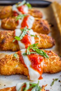 Crispy Fish Parmesan (just like Chicken Parmesan) from The Food Charlatan