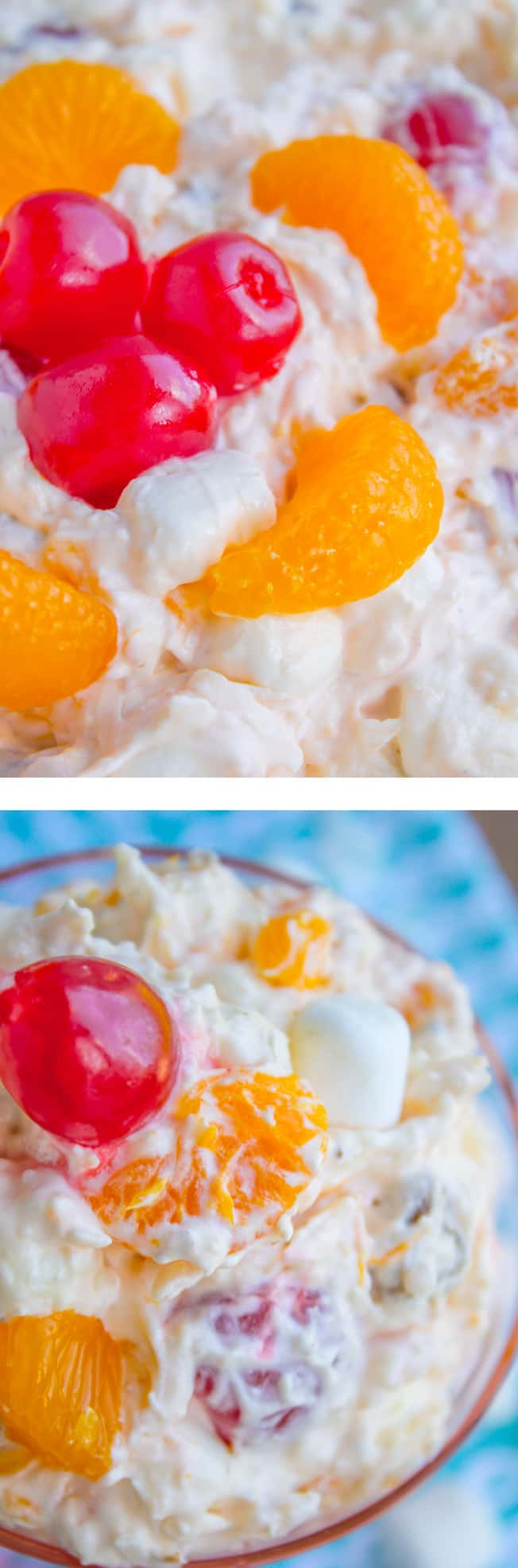 Mandarin Orange Ambrosia Salad - The Food Charlatan