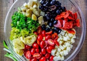 Italian Tortellini and Pepperoni Pasta Salad