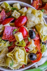 Italian Tortellini and Pepperoni Pasta Salad from The Food Charlatan