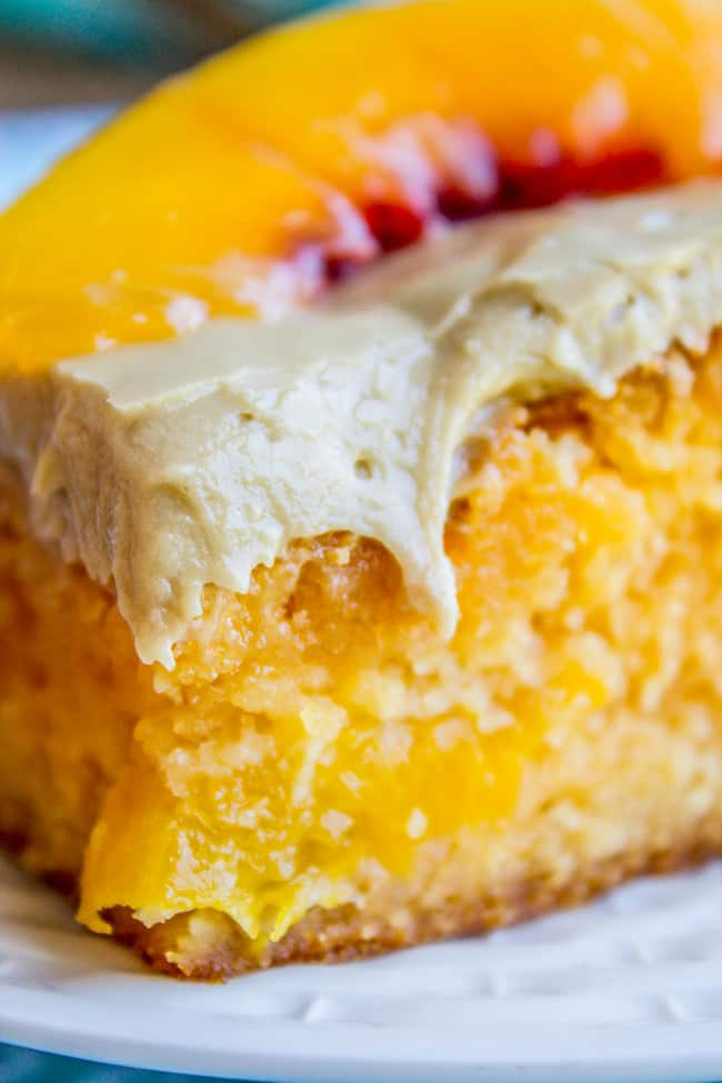 Recipe For Peach Cake With Brown Sugar Frosting
