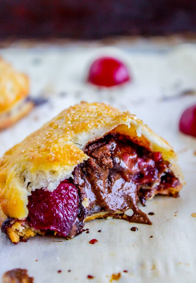Chocolate Cherry Hand Pies from The Food Charlatan