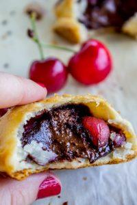 Chocolate Cherry Hand Pies from The Food Charlatan