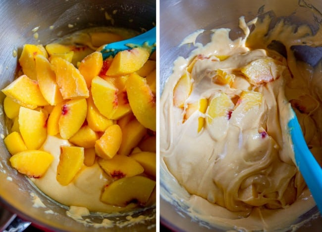 Peach Cake with Brown Sugar Frosting from The Food Charlatan