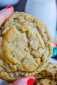 Chewy Peanut Butter Oatmeal Cookies from The Food Charlatan