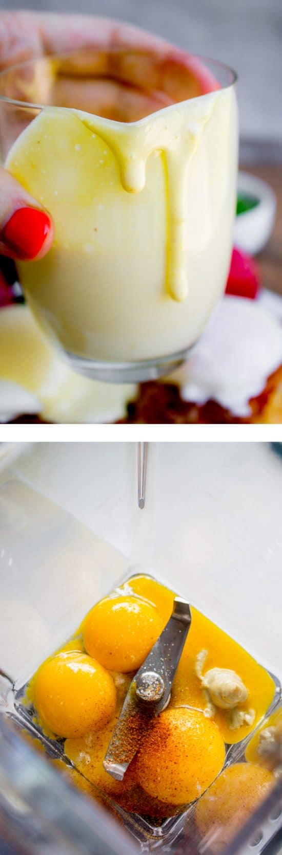 Blender Hollandaise Sauce (5 Minute Recipe) from The Food Charlatan