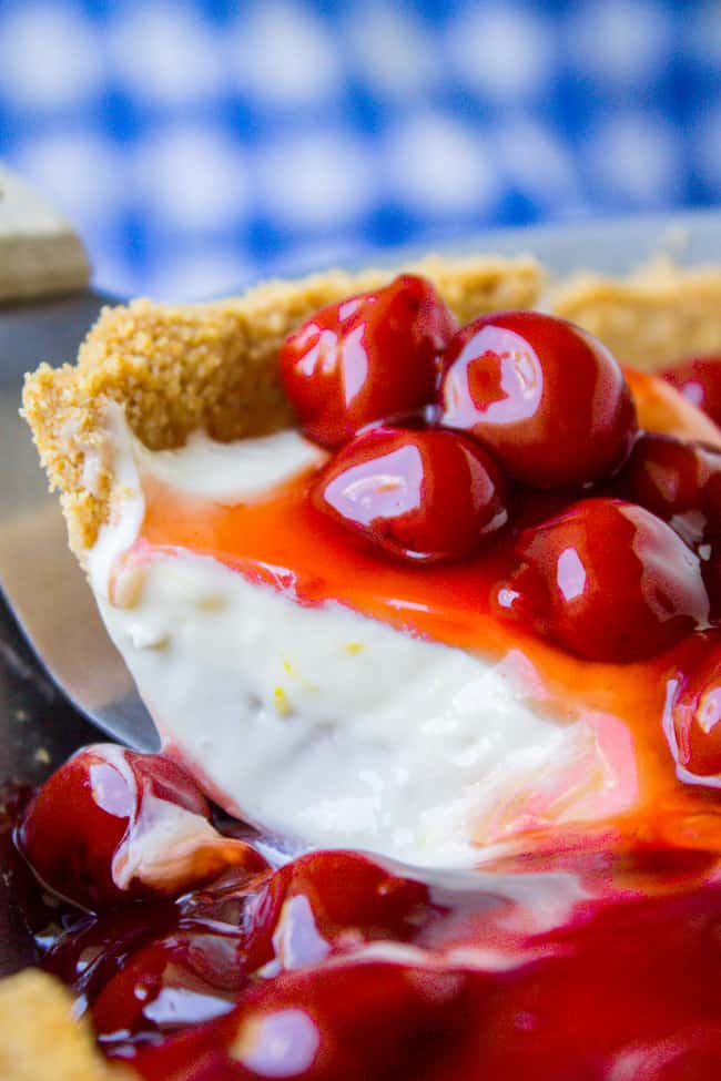 No Bake Cherry Cream Cheese Pie from The Food Charlatan