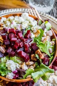 Green Salad with Feta and Beets (The Fanciest No-Chop Salad Ever) from The Food Charlatan