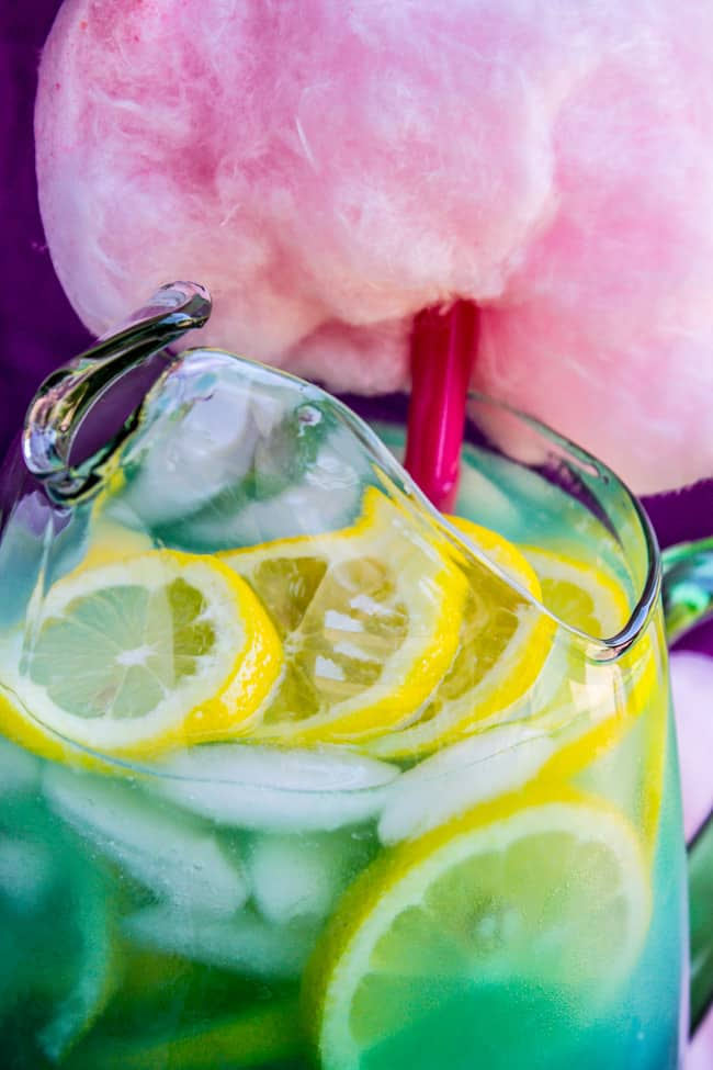 Blue Cotton Candy Lemonade (like at Disneyland!) from The Food Charlatan
