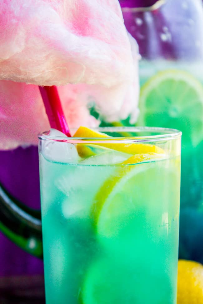Blue Cotton Candy Lemonade Like At Disneyland The Food Charlatan