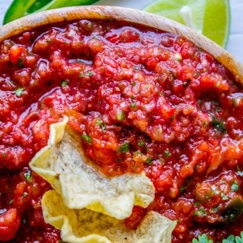 5 Minute Restaurant Style Salsa and How to Host Taco Tuesday from The Food Charlatan