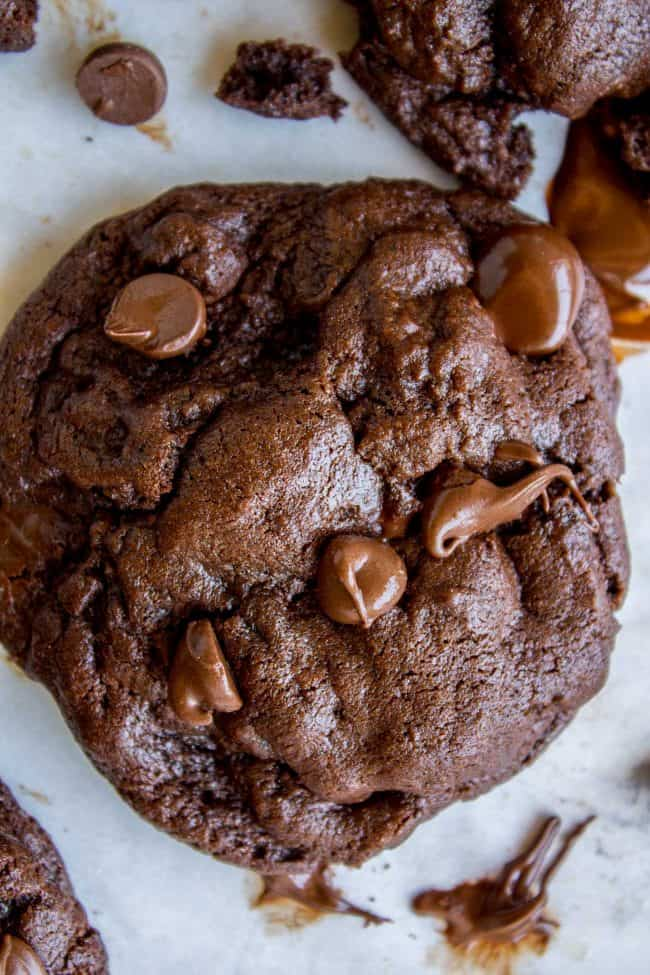 The Best Bakery Style Double Chocolate Chip Cookies from The Food Charlatan