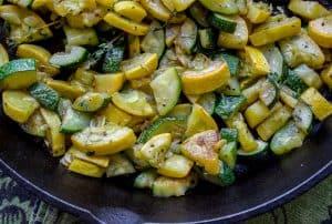 10 Minute Sautéed Zucchini and Squash Side Dish