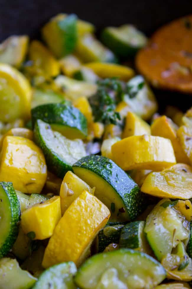 10 Minute Sautéed Zucchini and Squash Side Dish from The Food Charlatan