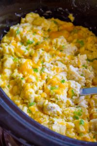 Creamy Make Ahead Scrambled Eggs for a Crowd from The Food Charlatan