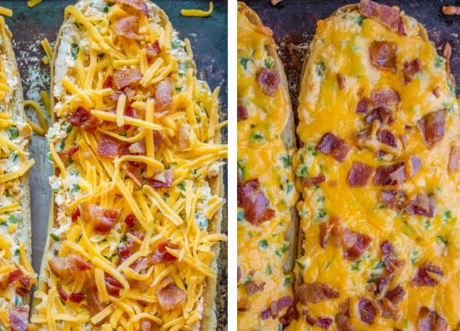 Jalapeño Popper Cheesy Bread with Bacon from The Food Charlatan