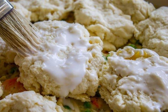 Buttermilk biscuits for chicken pot pie