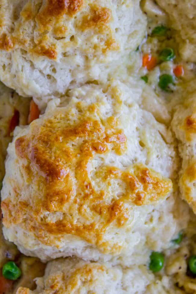 Chicken Pot Pie Recipe with Biscuits
