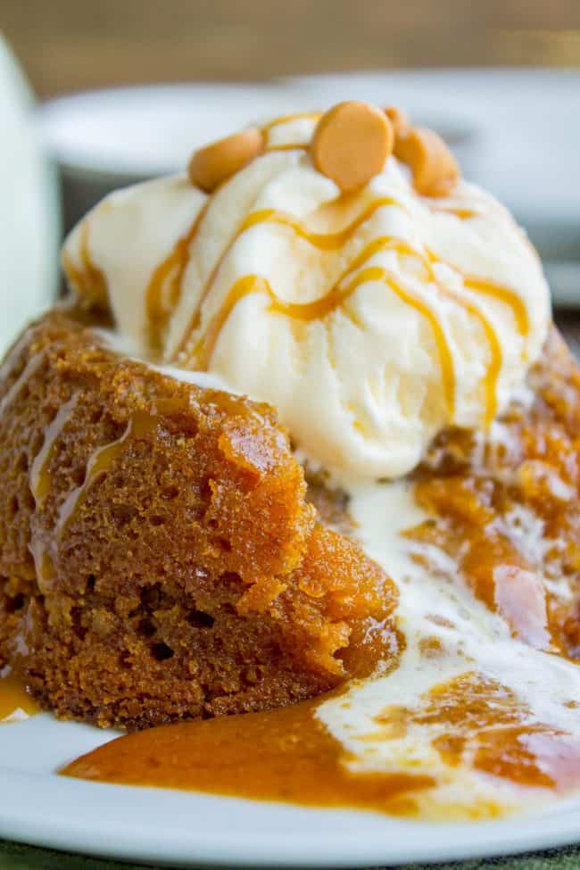 Pumpkin Butterscotch Molten Lava Cakes from The Food Charlatan