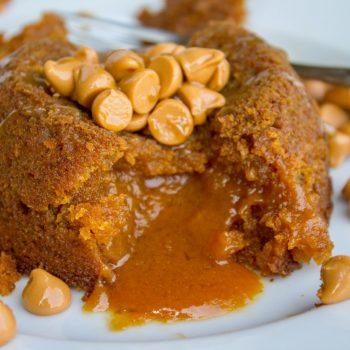 Pumpkin Butterscotch Molten Lava Cakes from The Food Charlatan