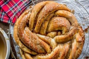 Maple Butter Twist Coffee Cake