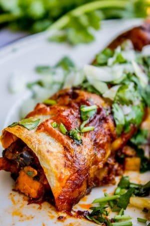 Sweet Potato and Black Bean Enchiladas from The Food Charlatan