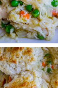Chicken Pot Pie with Flaky Biscuit Topping from The Food Charlatan