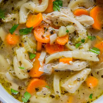 Chicken Noodle Soup with Homemade Noodles from The Food Charlatan