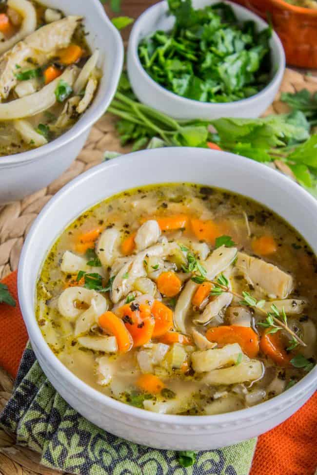 Chicken Noodle Soup With Homemade Noodles The Food Charlatan