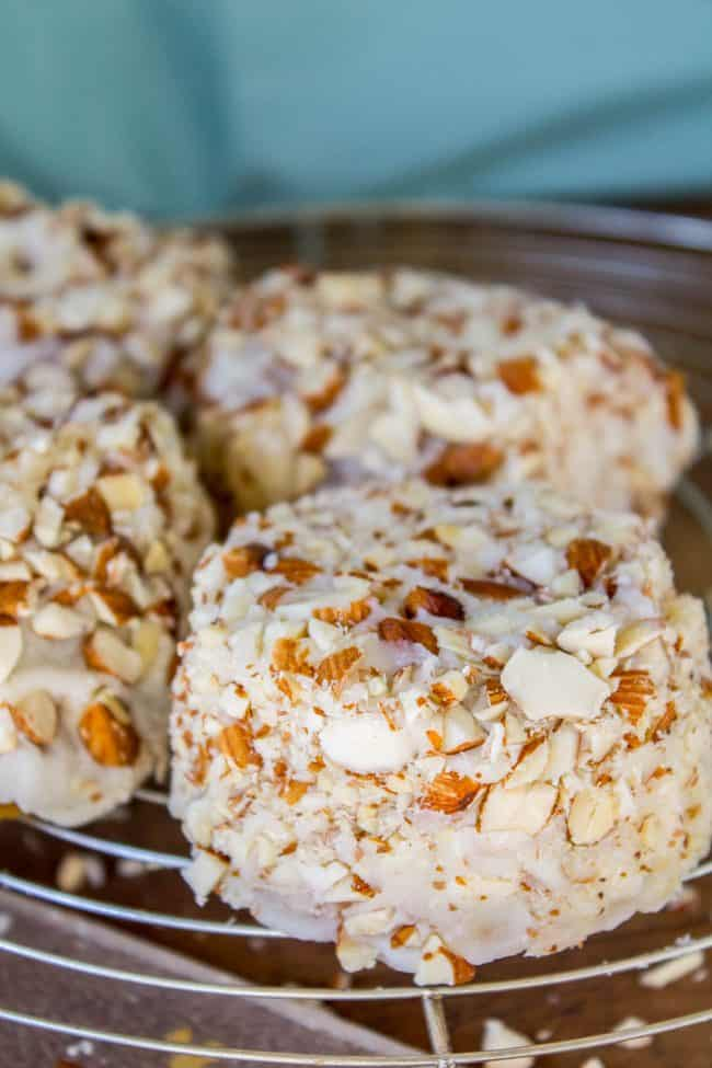 Upside Down Almond Crunch Cupcakes from The Food Charlatan