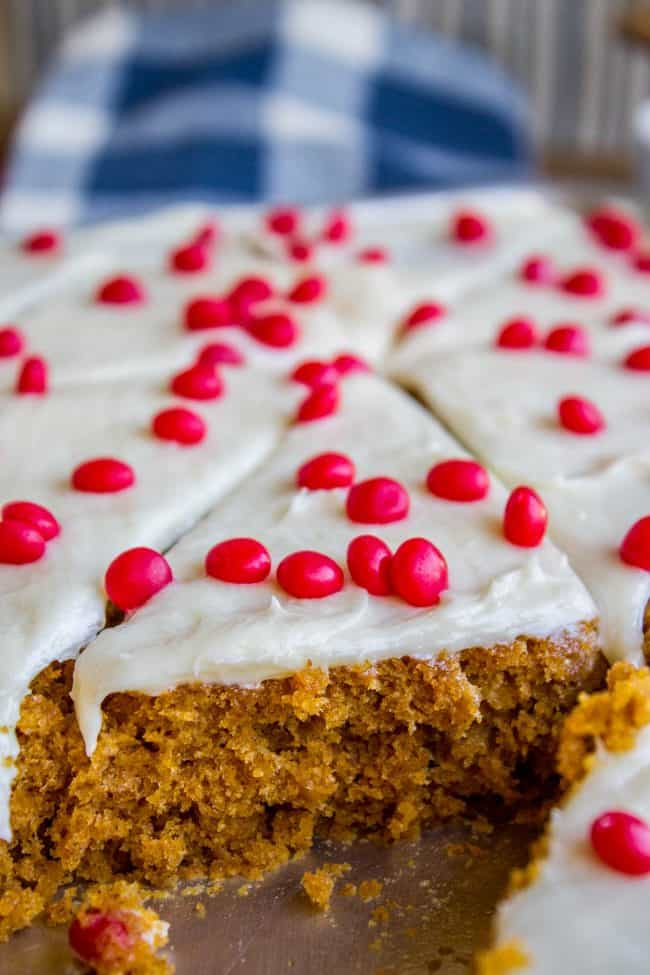 Paul's Pumpkin Bars with Cream Cheese Frosting