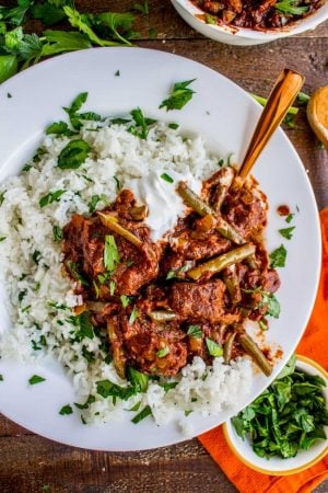 Braised Beef and Green Bean Stew (Lebanese Lubee) from The Food Charlatan