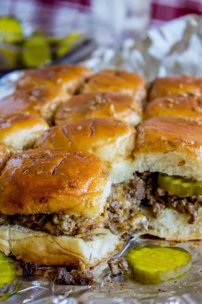 Easy Cheesy Cheeseburger Sliders from The Food Charlatan