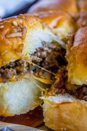 Easy Cheesy Cheeseburger Sliders from The Food Charlatan