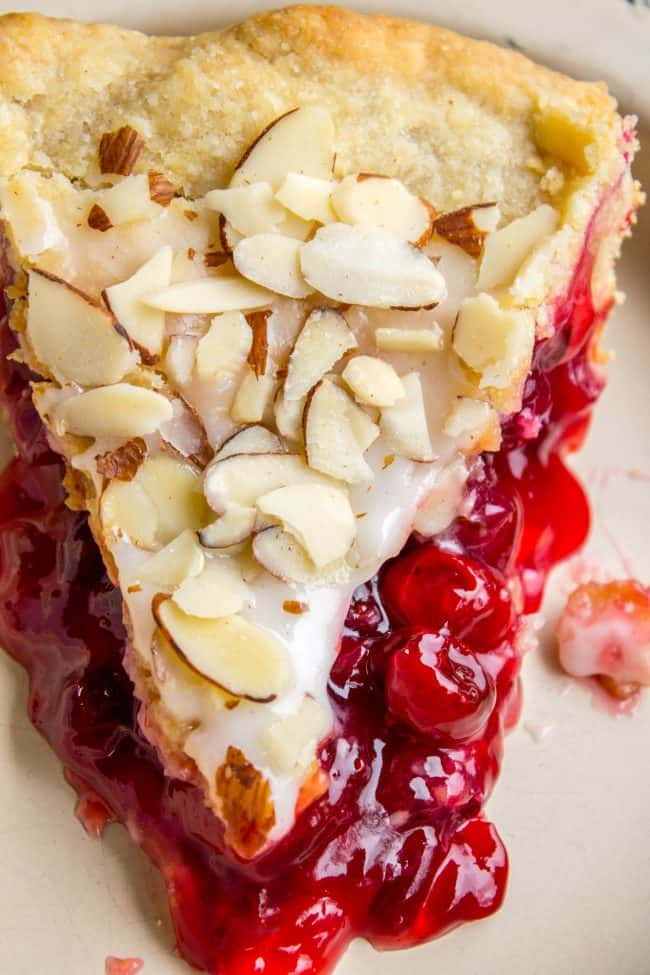 Cherry Pie with cranberries