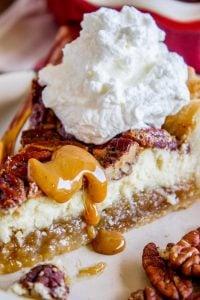 Cheesecake Pecan Pie (Make Ahead!) from The Food Charlatan