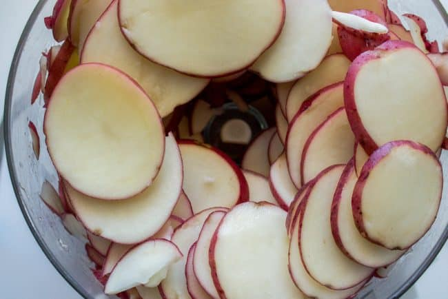 thinly sliced potatoes for scalloped potatoes