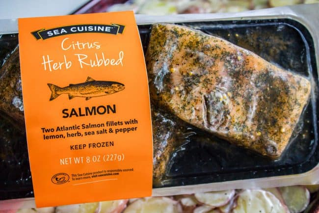 Citrus Herb rubbed salmon