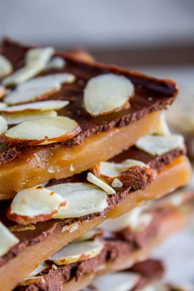 English Toffee with Almonds