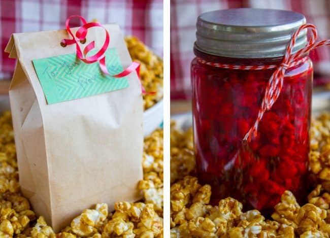 Gifting options for caramel corn