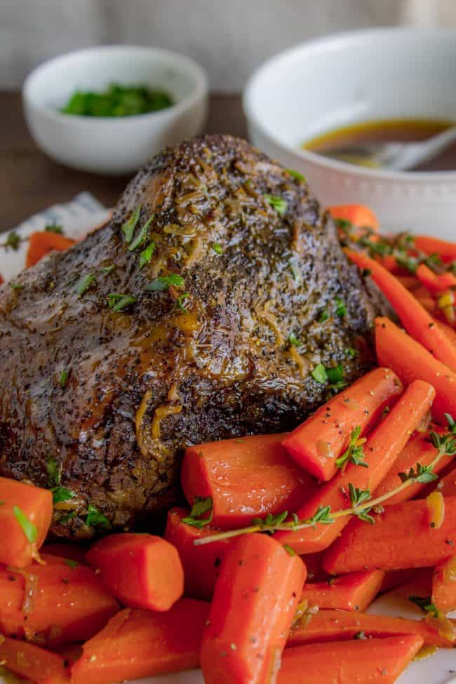 Pot roast with carrots