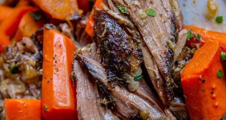 pot roast slow cooker with carrots