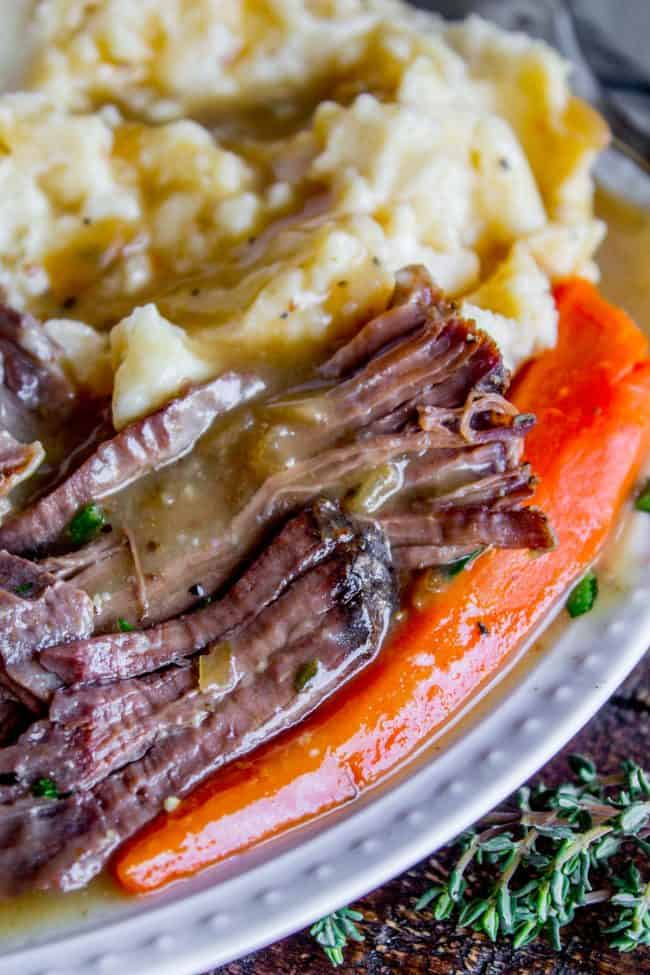Easy Fall Apart Crock Pot Roast Slow Cooker The Food Charlatan