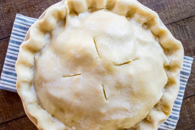 savory pie with pie crust
